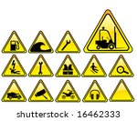 real hazards safety sign   part ... | Shutterstock .eps vector #16462333