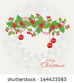 christmas greeting card. | Shutterstock .eps vector #164623583