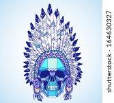 conceptual polygonal human... | Shutterstock .eps vector #164630327