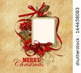 christmas vintage background... | Shutterstock . vector #164658083