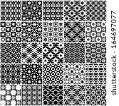 set of black and white seamless ... | Shutterstock .eps vector #164697077