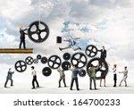 conceptual image of... | Shutterstock . vector #164700233