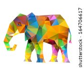 Vector   Elephant Abstract...
