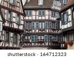 half timbered houses of colmar  ... | Shutterstock . vector #164712323