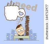 business man has more jobs  he... | Shutterstock .eps vector #164712977