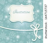christmas hand draw invitation... | Shutterstock .eps vector #164715737