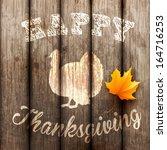 happy thanksgiving background ... | Shutterstock .eps vector #164716253