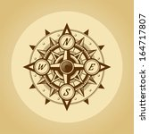 wind rose in old retro style. . | Shutterstock . vector #164717807