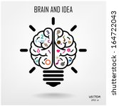 creative brain idea concept... | Shutterstock .eps vector #164722043