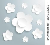 white flower on the grey... | Shutterstock .eps vector #164722217