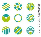 set of nine abstract circle... | Shutterstock .eps vector #164728337