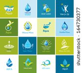 set of vector water icons 1. | Shutterstock .eps vector #164730377
