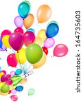 celebration background with... | Shutterstock . vector #164735603