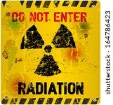 radiation warning  vector... | Shutterstock .eps vector #164786423