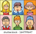cartoon doodle avatars  | Shutterstock .eps vector #164799647