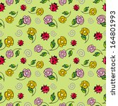 pattern with a ladybugs   Shutterstock .eps vector #164801993