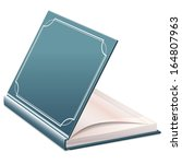 half open book with blank sheets | Shutterstock . vector #164807963