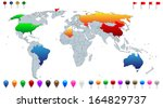 detailed world map  with every... | Shutterstock .eps vector #164829737