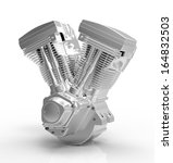 engine on a white background | Shutterstock . vector #164832503