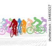 group of cyclist in the bicycle ... | Shutterstock .eps vector #164833217