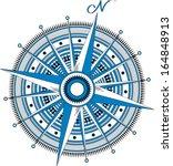 compass rose   blue | Shutterstock .eps vector #164848913