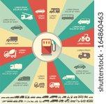 flat transportation infographic ...   Shutterstock .eps vector #164860463