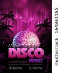 disco background. disco poster | Shutterstock .eps vector #164861183