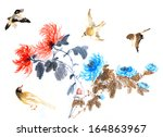 nature chinese element  plant... | Shutterstock . vector #164863967