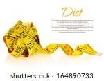 measuring tape isolated on a... | Shutterstock . vector #164890733