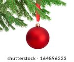 Christmas Red Ball Hanging On ...