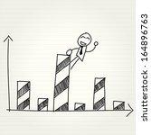 hand drawing cartoon   happy... | Shutterstock .eps vector #164896763