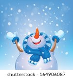 Vector Happy Snowman And...