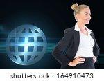 composite image of blonde... | Shutterstock . vector #164910473