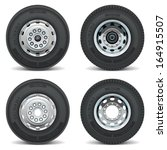 vector truck tire icons | Shutterstock .eps vector #164915507