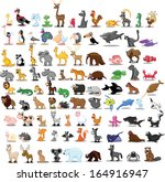 super set of cute cartoon... | Shutterstock .eps vector #164916947