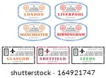 travel stamps from united... | Shutterstock .eps vector #164921747