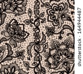 abstract seamless lace pattern... | Shutterstock .eps vector #164944487
