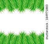 christmas frame of fir branches | Shutterstock . vector #164971883