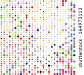 colorful dotted seamless... | Shutterstock . vector #164973113