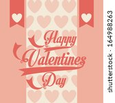 valentines day over pink ... | Shutterstock .eps vector #164988263