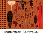 africa  icons  symbols and...   Shutterstock .eps vector #164996837