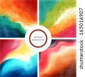 set of four abstract vector... | Shutterstock .eps vector #165016907