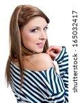 beautiful sexual girl brunette... | Shutterstock . vector #165032417