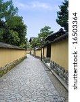 Small photo of Historic Samurai house street, Kanazawa Japan. Naga-machi Buke Yashiki district.