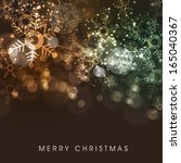 merry christmas celebrations... | Shutterstock .eps vector #165040367