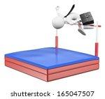 3d white people. businessman... | Shutterstock . vector #165047507