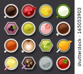 drink icon set | Shutterstock .eps vector #165053903
