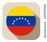 Vector - Venezuela Flag Button Icon Modern