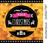 christmas poster sale... | Shutterstock .eps vector #165067787