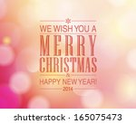 vector merry christmas and... | Shutterstock .eps vector #165075473